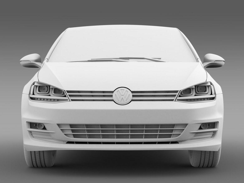 volkswagen golf tdi 5d 2015 3d model 3ds max fbx c4d lwo ma mb hrc xsi obj 165002