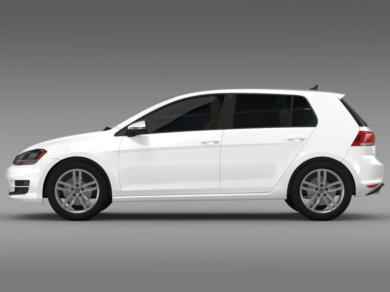 volkswagen golf tsi 5d 2015 3d model 3ds max fbx c4d lwo ma mb hrc xsi obj 165014