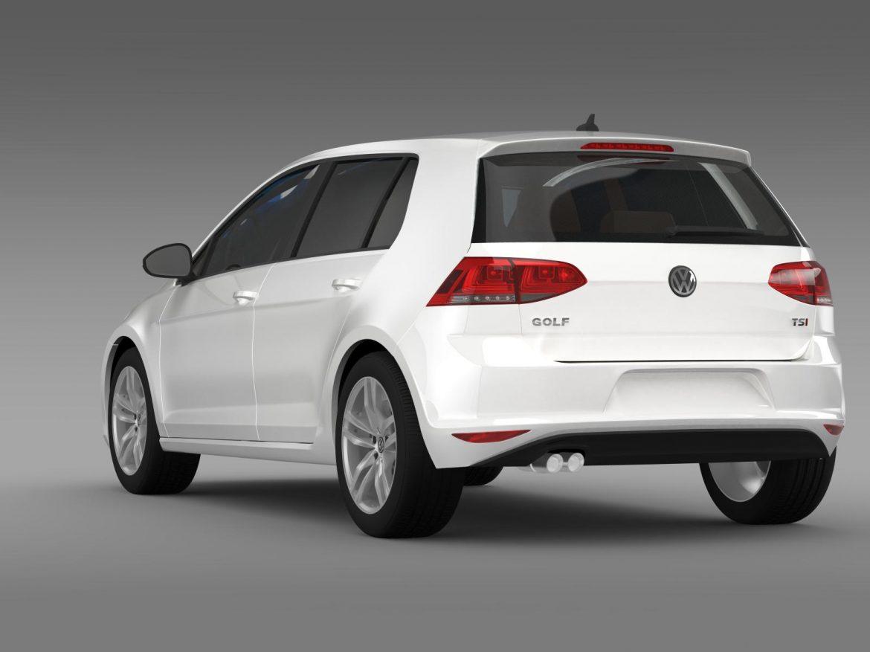 volkswagen golf tsi 5d 2015 3d model 3ds max fbx c4d lwo ma mb hrc xsi obj 165016