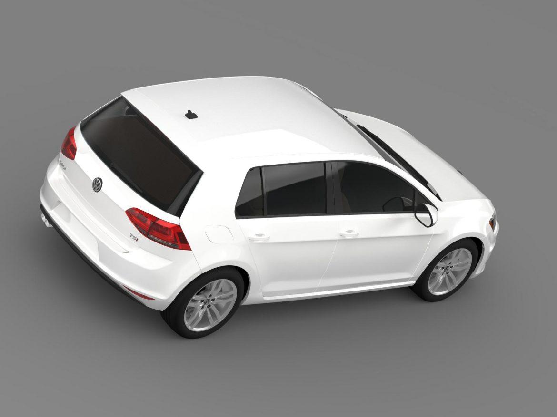 volkswagen golf tsi 5d 2015 3d model 3ds max fbx c4d lwo ma mb hrc xsi obj 165018