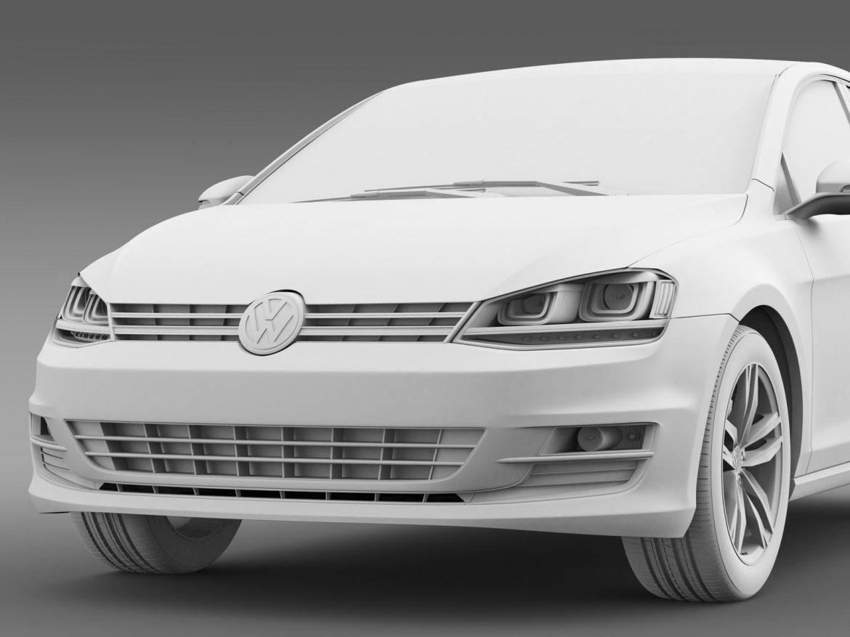 volkswagen golf tsi 5d 2015 3d model 3ds max fbx c4d lwo ma mb hrc xsi obj 165023