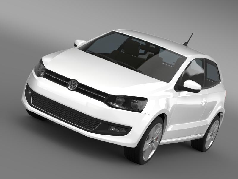 Volkswagen polo 3d 2009-2013 3d líkan 3ds hámark fbx c4d lwo ma mb hrc xsi obj 161106