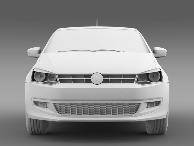 volkswagen polo 3d 2009-2013 3d model 3ds max fbx c4d lwo ma mb hrc xsi obj 161120