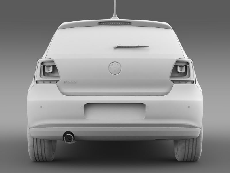 volkswagen polo 3d 2009-2013 3d model 3ds max fbx c4d lwo ma mb hrc xsi obj 161121