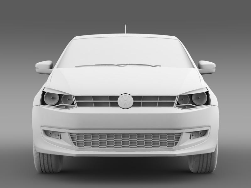 volkswagen polo bifuel 5d 2010-2013 3d model 3ds max fbx c4d lwo ma mb hrc xsi obj 161162