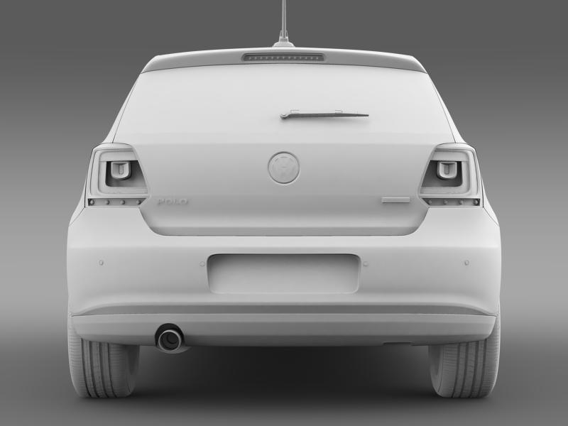 volkswagen polo bifuel 5d 2010-2013 3d model 3ds max fbx c4d lwo ma mb hrc xsi obj 161163