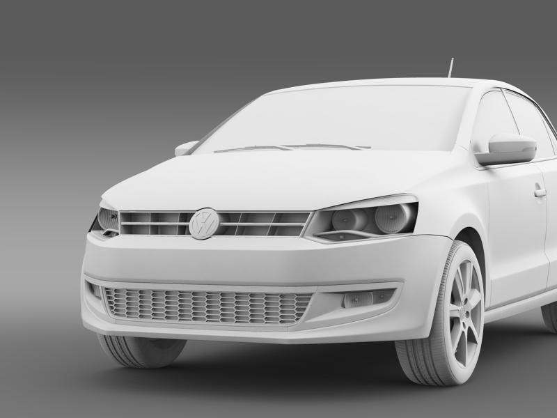 volkswagen polo bifuel 5d 2010-2013 3d model 3ds max fbx c4d lwo ma mb hrc xsi obj 161164