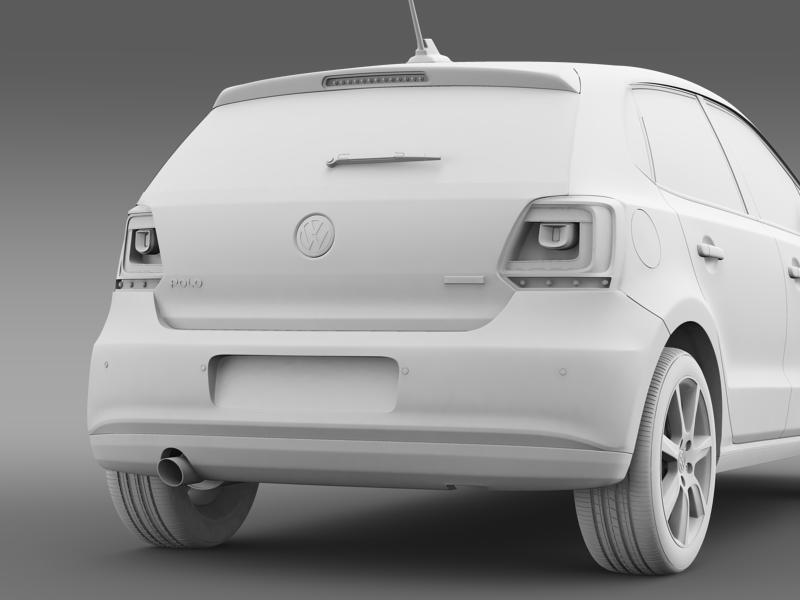 volkswagen polo bifuel 5d 2010-2013 3d model 3ds max fbx c4d lwo ma mb hrc xsi obj 161165