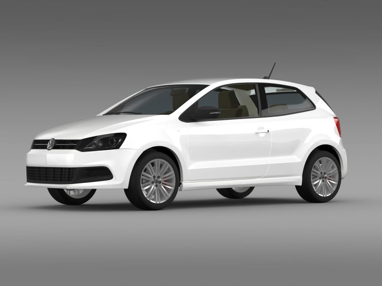 volkswagen polo bluegt 3d 2009-2013 3d model 3ds max fbx c4d lwo ma mb hrc xsi obj 161901
