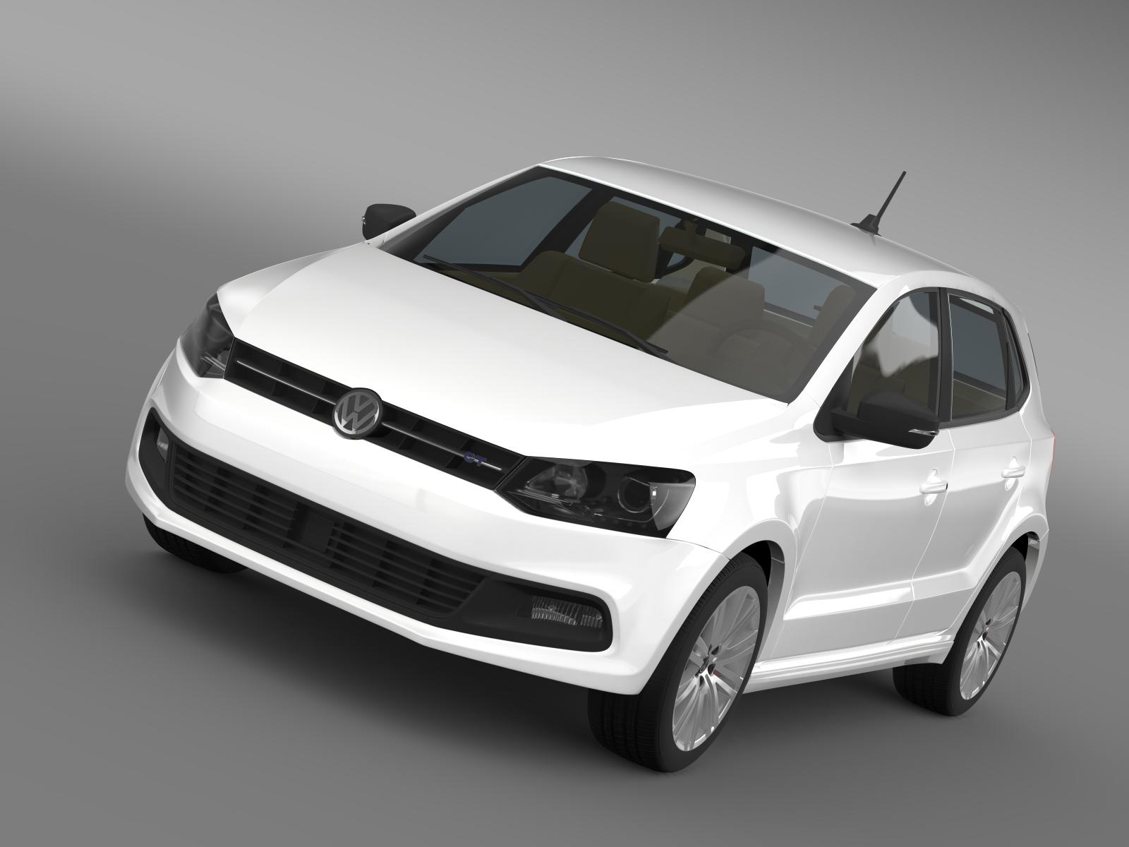 volkswagen polo bluegt 5d 2014 3d загвар 3ds max fbx c4d lwo ma mb hrc xsi obj 161939
