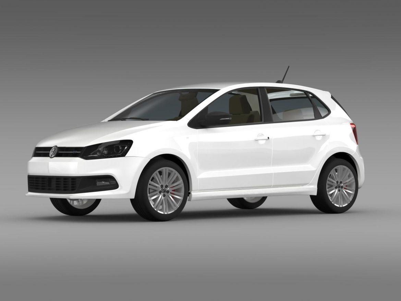 volkswagen polo bluegt 5d 2014 3d model 3ds max fbx c4d lwo ma mb hrc xsi obj 161943