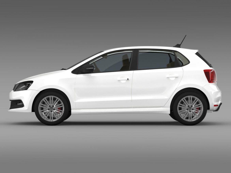 volkswagen polo bluegt 5d 2014 3d model 3ds max fbx c4d lwo ma mb hrc xsi obj 161944