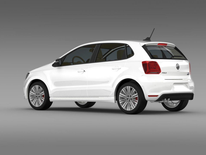 volkswagen polo bluegt 5d 2014 3d model 3ds max fbx c4d lwo ma mb hrc xsi obj 161945