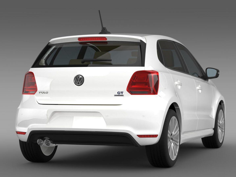 volkswagen polo bluegt 5d 2014 3d model 3ds max fbx c4d lwo ma mb hrc xsi obj 161947
