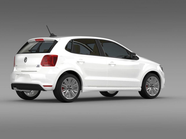 volkswagen polo bluegt 5d 2014 3d model 3ds max fbx c4d lwo ma mb hrc xsi obj 161949