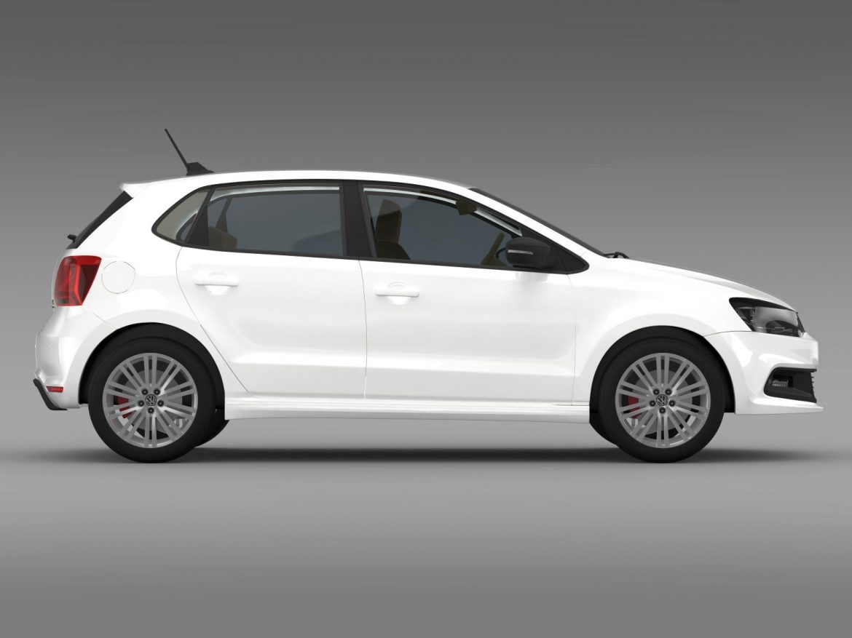 volkswagen polo bluegt 5d 2014 3d model 3ds max fbx c4d lwo ma mb hrc xsi obj 161950