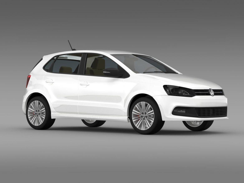 volkswagen polo bluegt 5d 2014 3d model 3ds max fbx c4d lwo ma mb hrc xsi obj 161951