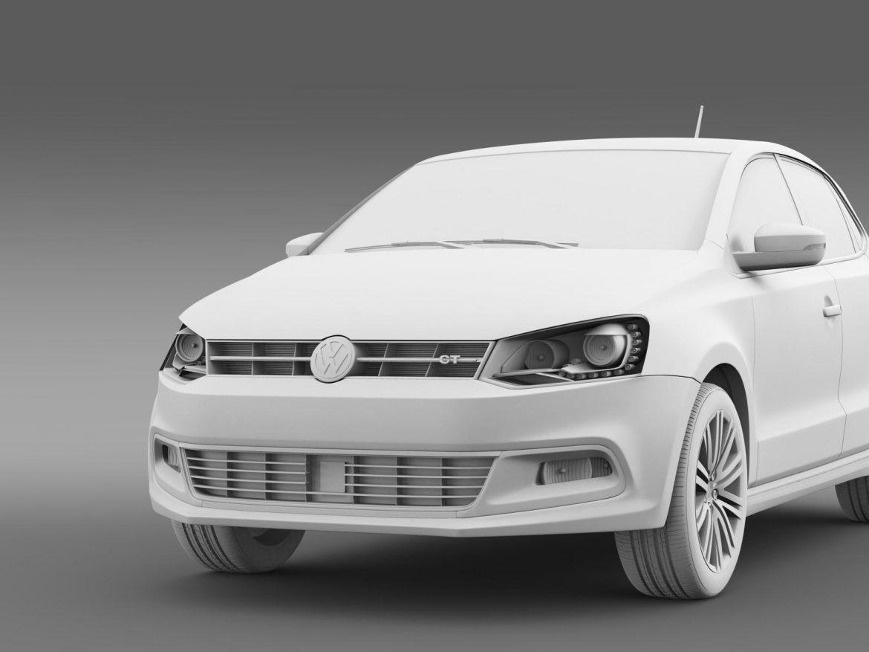 volkswagen polo bluegt 5d 2014 3d model 3ds max fbx c4d lwo ma mb hrc xsi obj 161955