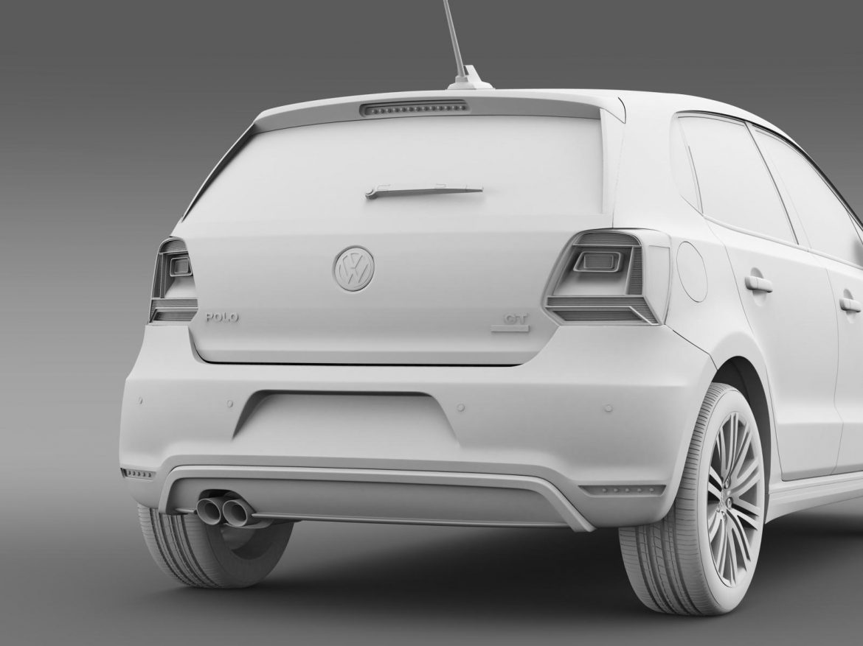 volkswagen polo bluegt 5d 2014 3d model 3ds max fbx c4d lwo ma mb hrc xsi obj 161956