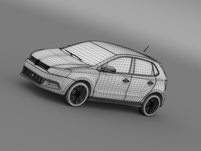volkswagen polo bluegt 5d 2014 3d model 3ds max fbx c4d lwo ma mb hrc xsi obj 161957