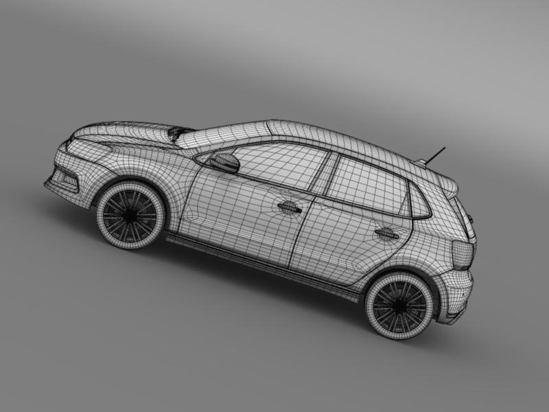 volkswagen polo bluegt 5d 2014 3d model 3ds max fbx c4d lwo ma mb hrc xsi obj 161958