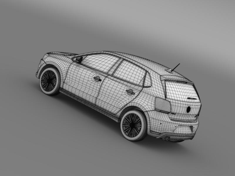 volkswagen polo bluegt 5d 2014 3d model 3ds max fbx c4d lwo ma mb hrc xsi obj 161959