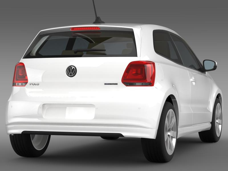 volkswagen polo bluemotion 3d 2010-2013 3d model 3ds max fbx c4d lwo ma mb hrc xsi obj 161363