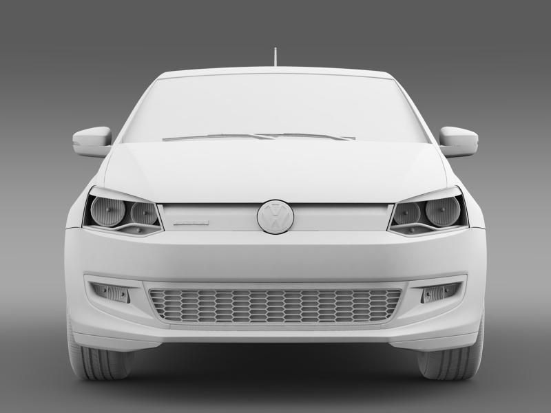 volkswagen polo bluemotion 5d 2010-2013 3d model 3ds max fbx c4d lwo ma mb hrc xsi obj 161427