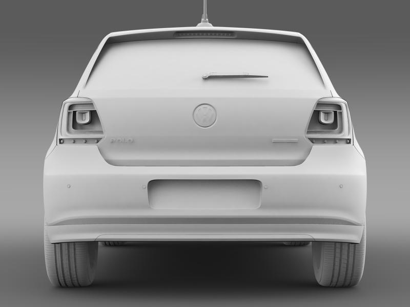 volkswagen polo bluemotion 5d 2010-2013 3d model 3ds max fbx c4d lwo ma mb hrc xsi obj 161428