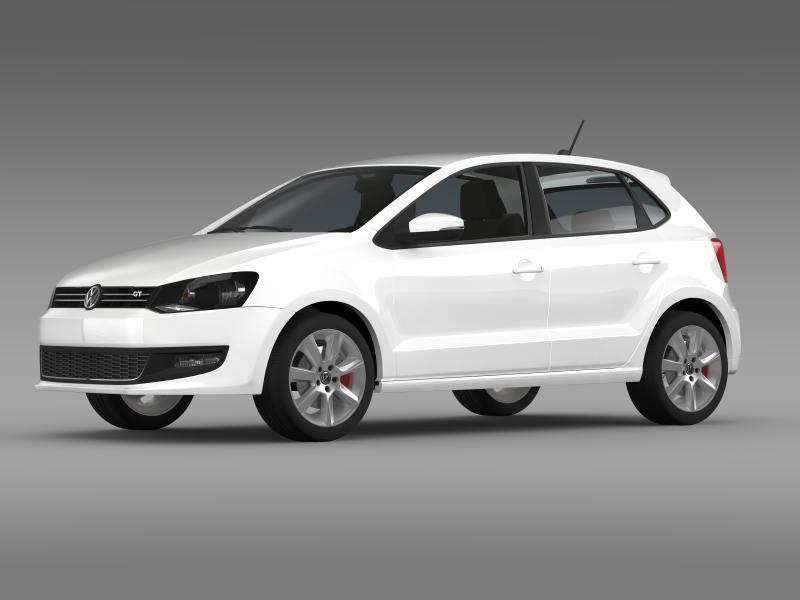 volkswagen polo gt 2013 3d model 3ds max fbx c4d lwo ma mb hrc xsi obj 161173
