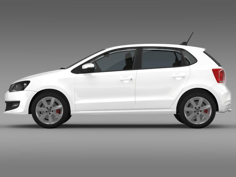 volkswagen polo gt 2013 3d model 3ds max fbx c4d lwo ma mb hrc xsi obj 161174