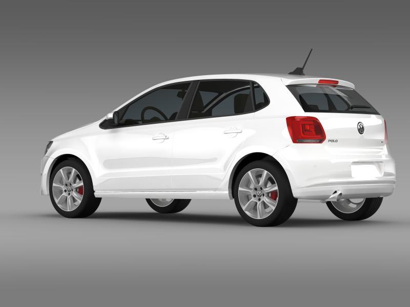 volkswagen polo gt 2013 3d model 3ds max fbx c4d lwo ma mb hrc xsi obj 161175