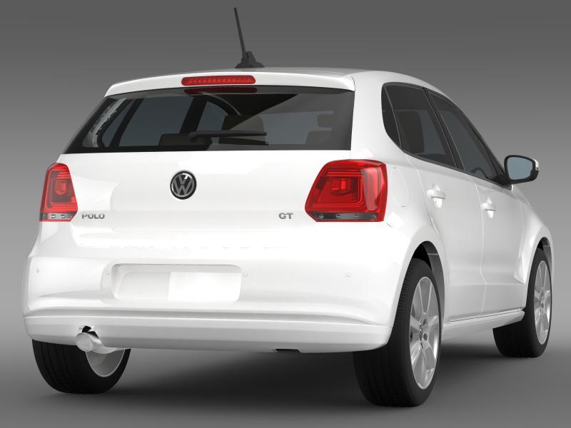 volkswagen polo gt 2013 3d model 3ds max fbx c4d lwo ma mb hrc xsi obj 161177
