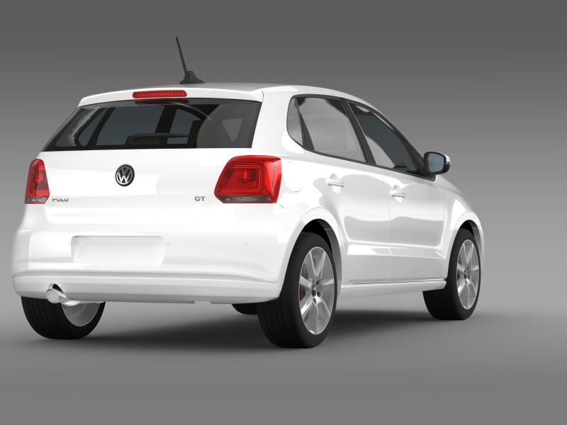 volkswagen polo gt 2013 3d model 3ds max fbx c4d lwo ma mb hrc xsi obj 161178