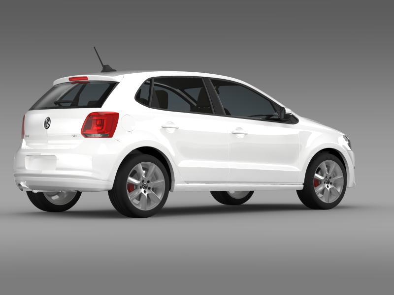 volkswagen polo gt 2013 3d model 3ds max fbx c4d lwo ma mb hrc xsi obj 161179
