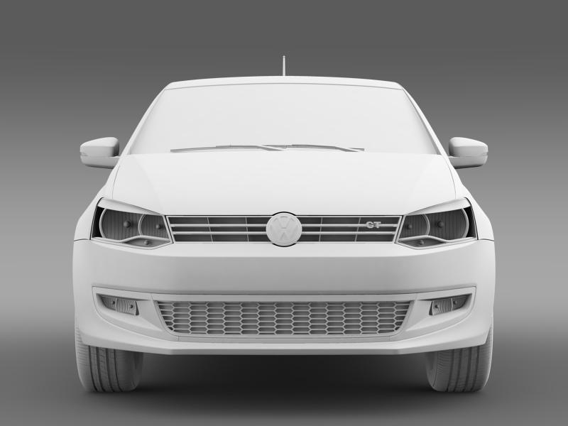 volkswagen polo gt 2013 3d model 3ds max fbx c4d lwo ma mb hrc xsi obj 161183