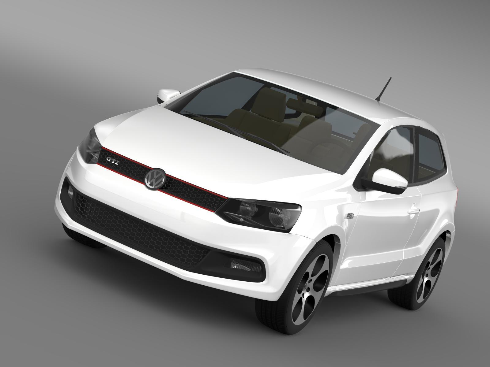 Volkswagen polo gti 3d 2009-2013 3d líkan 3ds hámark fbx c4d lwo ma mb hrc xsi obj 161960