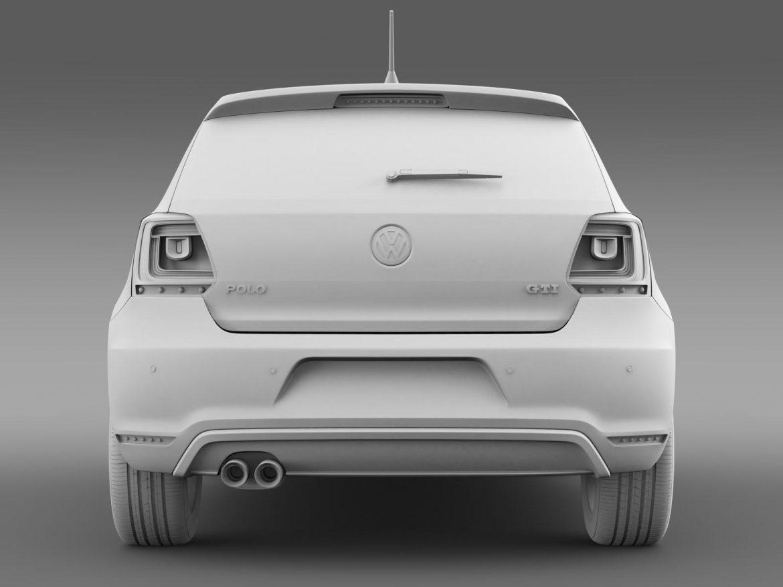 volkswagen polo gti 3d 2009-2013 3d model 3ds max fbx c4d lwo ma mb hrc xsi obj 161975