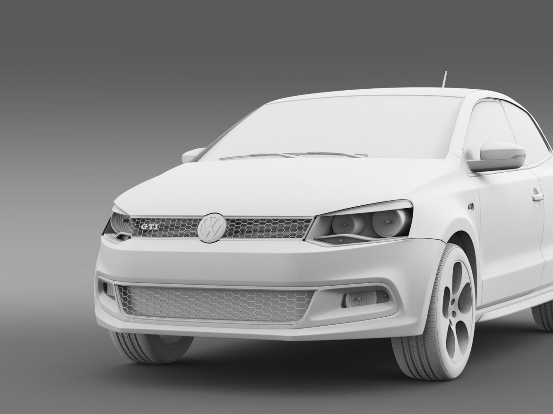 volkswagen polo gti 3d 2009-2013 3d model 3ds max fbx c4d lwo ma mb hrc xsi obj 161976