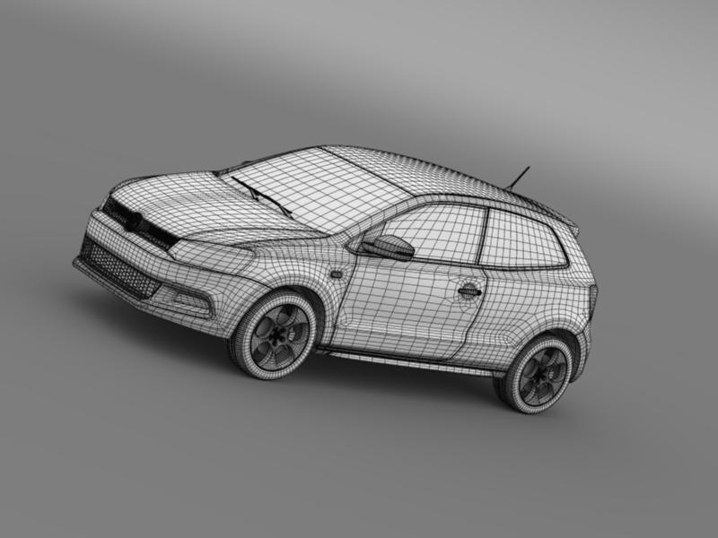 volkswagen polo gti 3d 2009-2013 3d model 3ds max fbx c4d lwo ma mb hrc xsi obj 161978