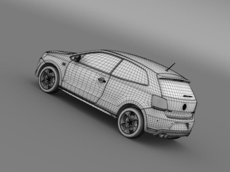 volkswagen polo gti 3d 2009-2013 3d model 3ds max fbx c4d lwo ma mb hrc xsi obj 161980