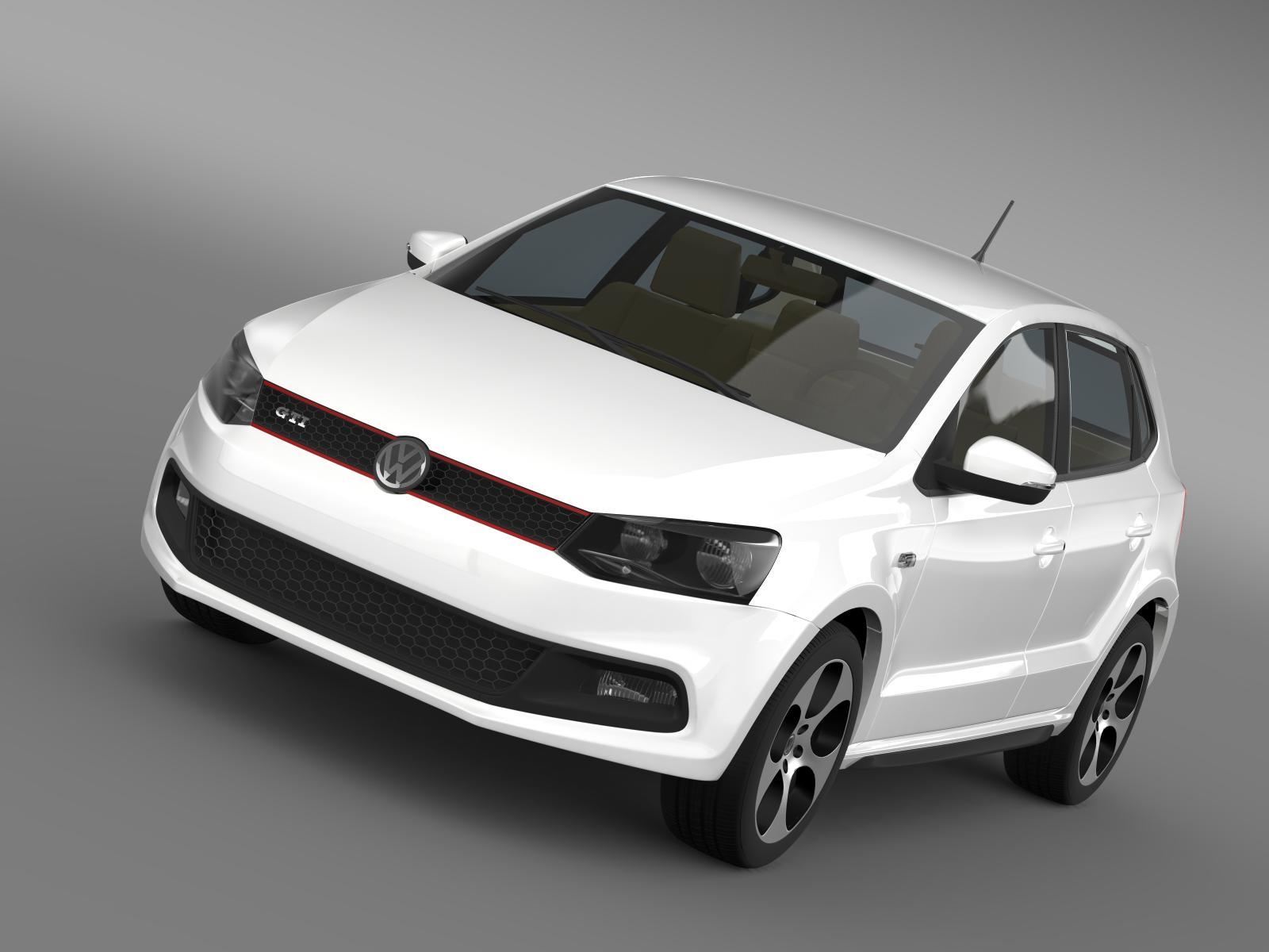 Volkswagen polo gti 5d 2009-2013 3d líkan 3ds hámark fbx c4d lwo ma mb hrc xsi obj 161981