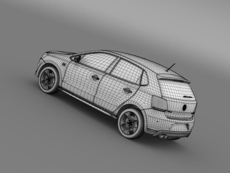 volkswagen polo gti 5d 2009-2013 3d model 3ds max fbx c4d lwo ma mb hrc xsi obj 162001
