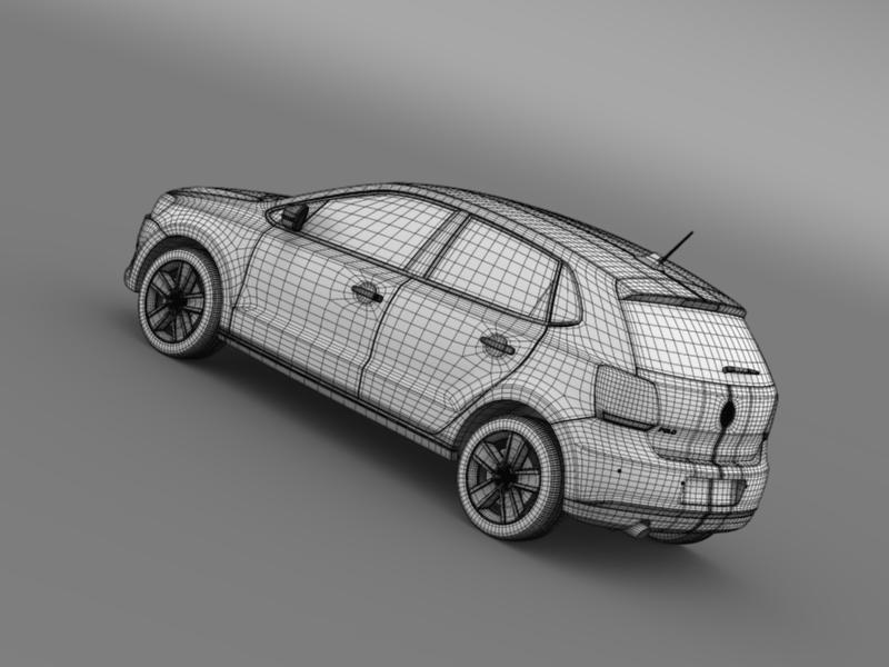volkswagen polo worthersee 3d model 3ds max fbx c4d lwo ma mb hrc xsi obj 161285