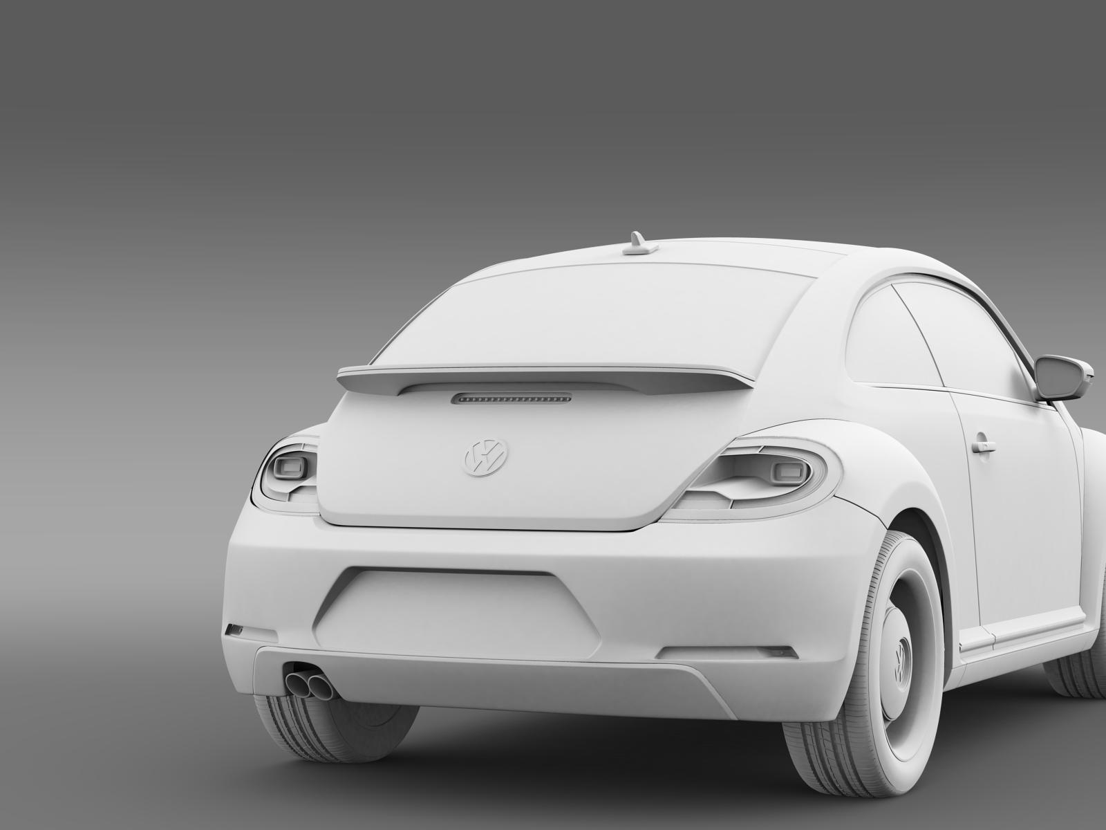 volkswagen beetle classic 2015 3d model buy volkswagen beetle classic 2015 3d model flatpyramid. Black Bedroom Furniture Sets. Home Design Ideas