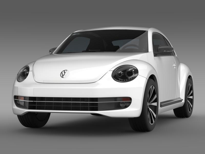 vw beetle 2012 3d model 3ds max fbx c4d lwo ma mb hrc xsi obj 147352