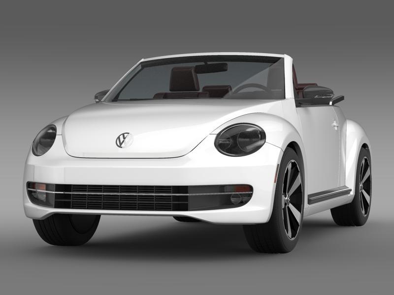 vw beetle cabrio 2013 3d model 3ds max fbx c4d lwo ma mb hrc xsi obj 147376