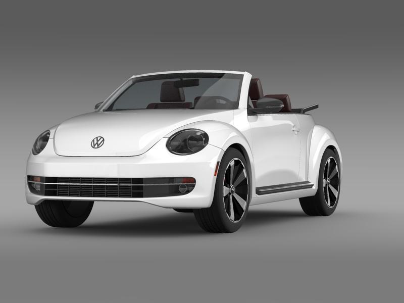 vw beetle cabrio 2013 3d model 3ds max fbx c4d lwo ma mb hrc xsi obj 147377