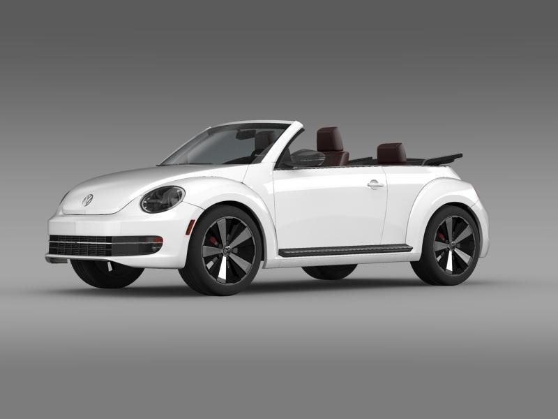vw beetle cabrio 2013 3d model 3ds max fbx c4d lwo ma mb hrc xsi obj 147378