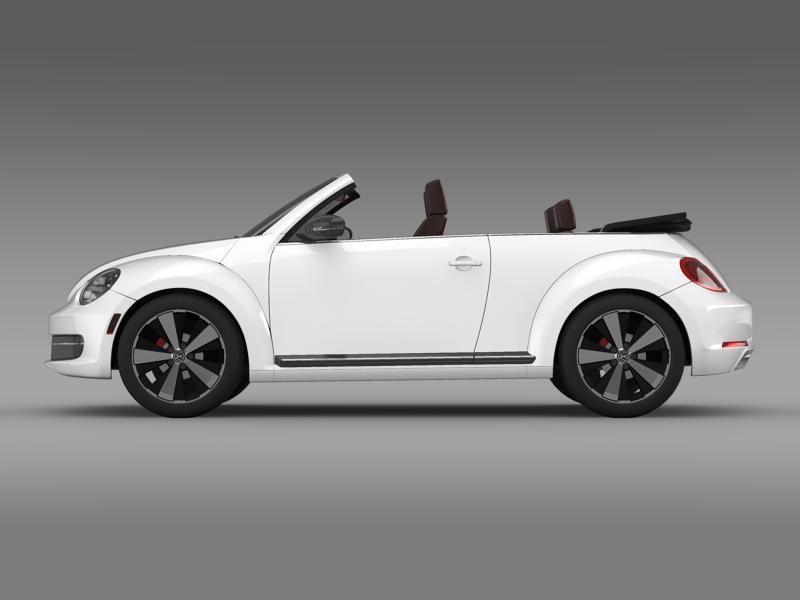 vw beetle cabrio 2013 3d model 3ds max fbx c4d lwo ma mb hrc xsi obj 147379